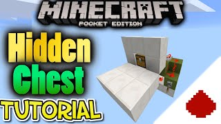 Hidden Crafting Bench Tutorial  [Mcpe Redstone] Block Swapper / Hidden chest Build