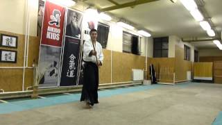 hassogaeshi ushiro tsuki [TUTORIAL] basic Aikido weapon technique /hasso no bu