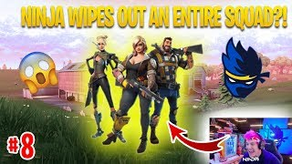 NINJA WIPES OUT AN ENTIRE SQUAD?! | FORTNITE DAILY FUNNY & WTF TWITCH CLIPS #8 | Fortnite Addict