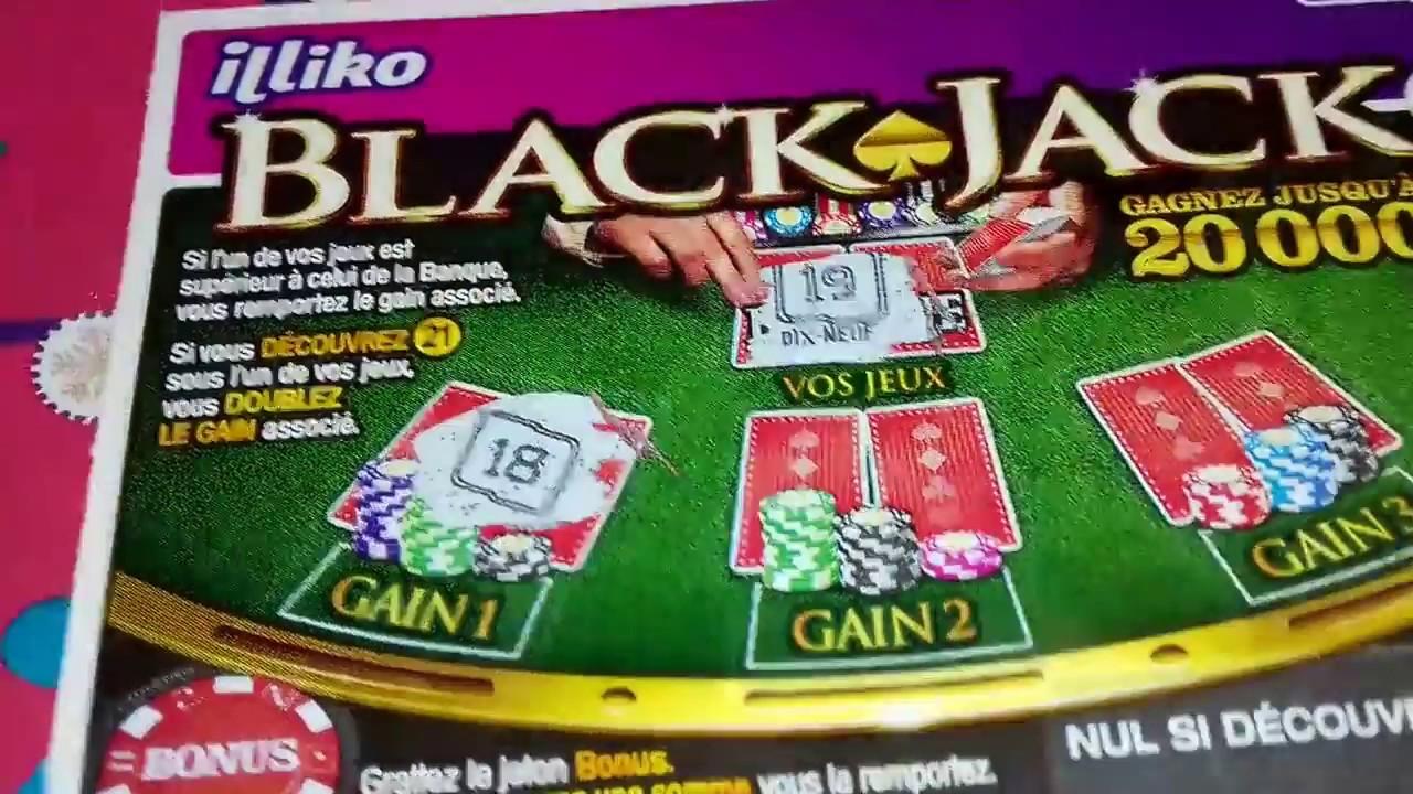 tickets de grattage black jack 2 solitaire 2 et jackpot 5 illiko fdj youtube. Black Bedroom Furniture Sets. Home Design Ideas