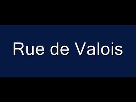 Rue de Valois Paris Arrondissement  1er