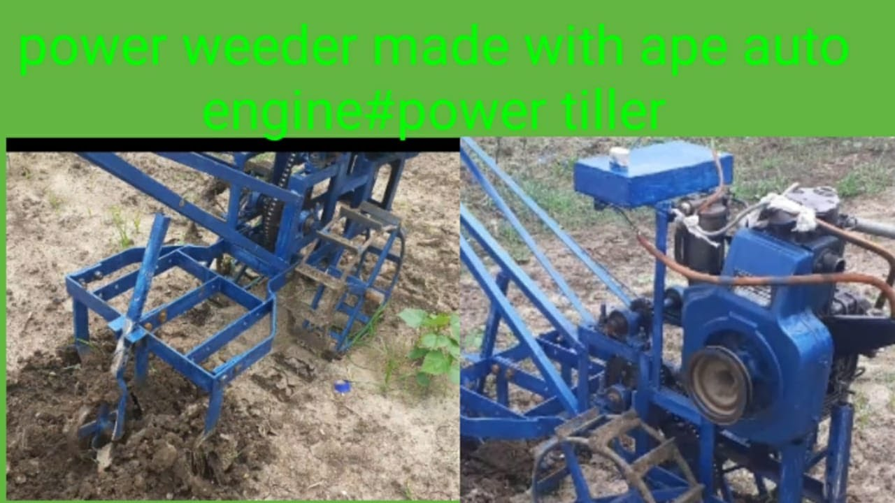 Download Power Weeder Made With Ape Auto-Engine By farmer / Local Power Tiller