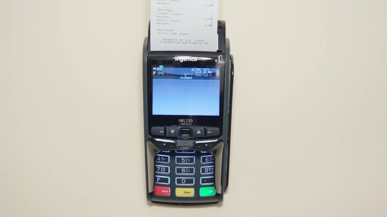 How to do an end of day report with Payment Terminal iWL250 GPRS