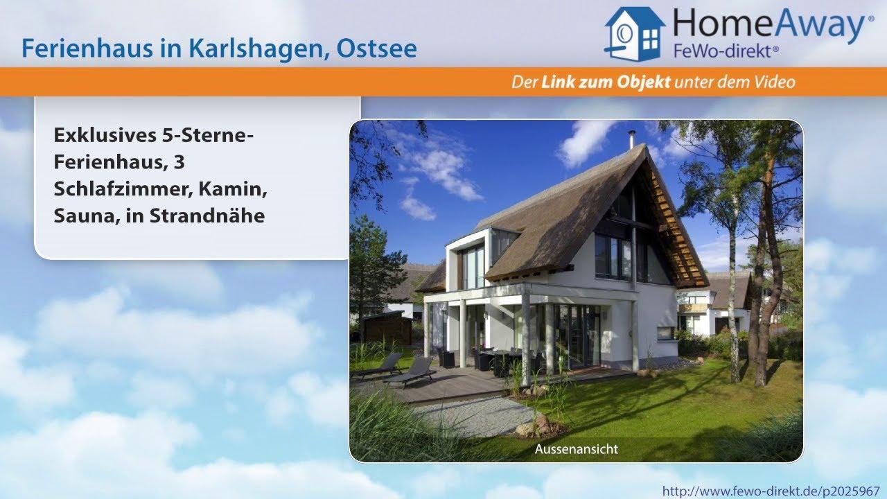 Usedom: Exklusives 5-Sterne-Ferienhaus, 3 Schlafzimmer, Kamin, Sauna ...
