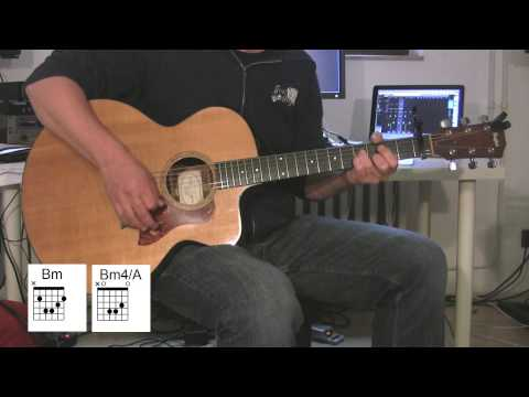 """Your Song"" Cover Acoustic Guitar with original vocals and chord diagrams, Elton John"
