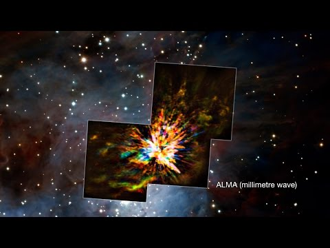 Star Collision Causes Dramatic Stellar Fireworks | 4K Video