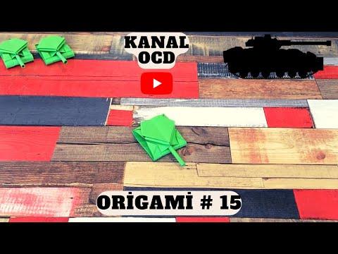 ORİGAMİ # 15 Tank Nasıl Yapılır ? (Origami Paper Tank)...
