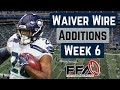 Top Waiver Wire Targets - Week 6 - 2019 Fantasy Football Advice