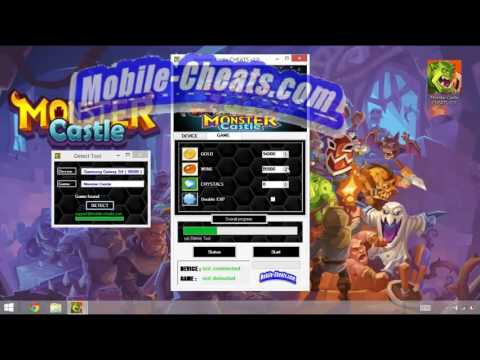 Monster Castle CHEATS v2.0 [ for iOS and Android ] [ gold, wine , crystals , xp ]