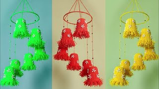 DIY Wall Hanging using Disposable Glass || Best out of Waste Idea || Handmade crafts || Woolen Craft