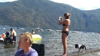 On the beach camping Campagna - Cannobio 2012