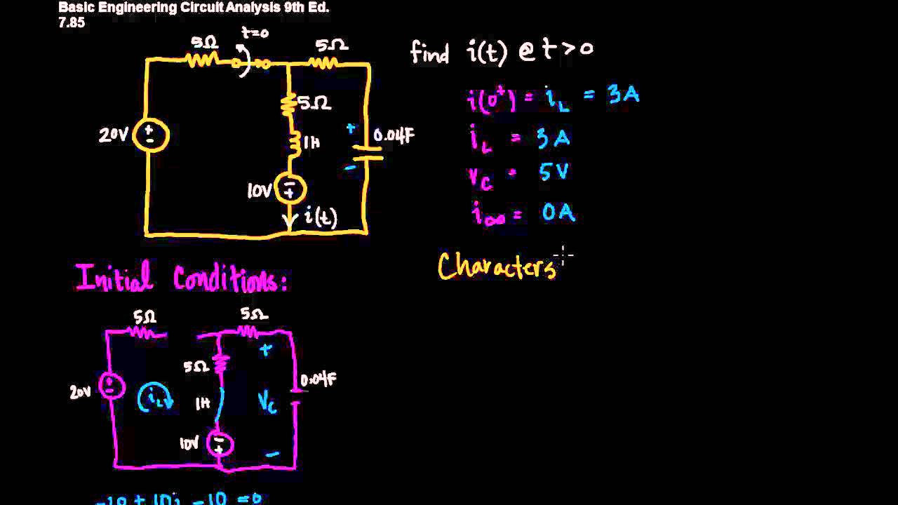 Parallel 2nd Circuits Great Installation Of Wiring Diagram Series Youtube Analysis Second Order Rh Com And Short Circuit