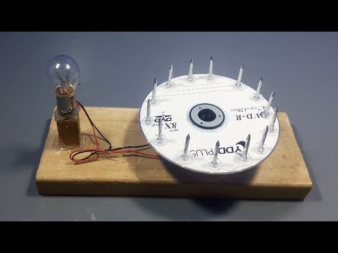 how to make 100% free energy generator  at home science exhibition for light bulb