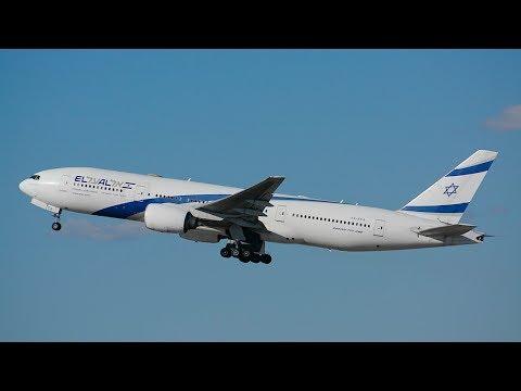 El Al Airlines Boeing 777-200ER [4X-ECA] Departing LAX.