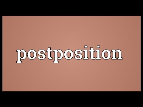 Header of postposition