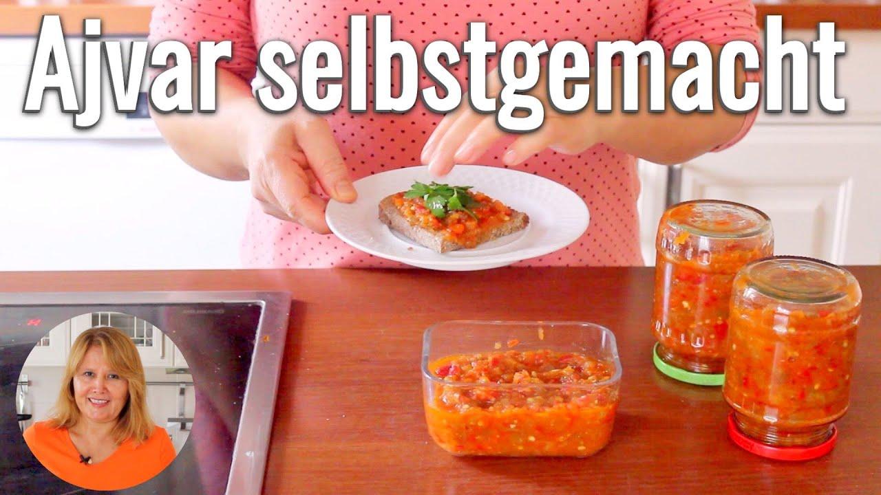 Ajvar selbstgemacht | Paprika-Auberginen-Aufstrich aus dem Balkan | Vegan | Canans Rezepte