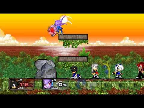 ssf2 mod Sonic vs Jack vs Lilac