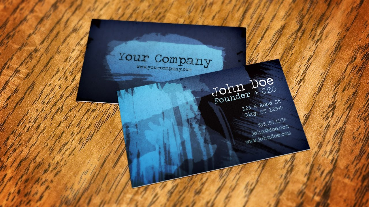 How to create a business card mockup using smart objects in how to create a business card mockup using smart objects in photoshop reheart Images