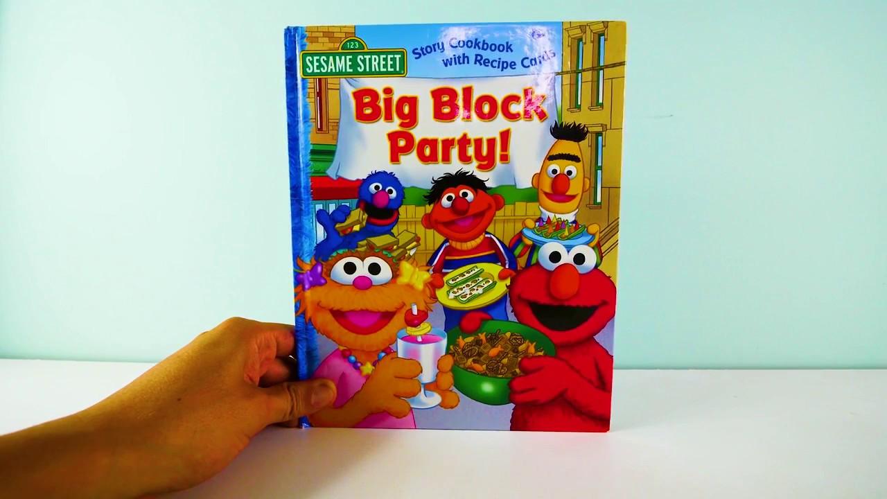 Sesame Street Big Block Party Elmo and Friends Kid's Books Read Aloud