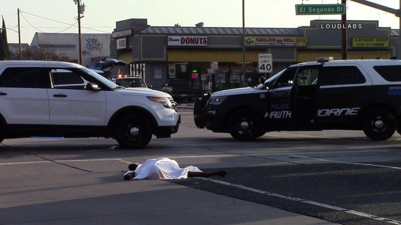 Fatal Vehicle vs Pedestrian / Hawthorne RAW FOOTAGE