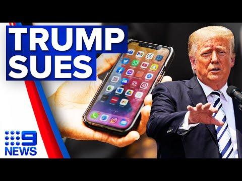 Donald Trump to sue social media sites | 9 News Australia