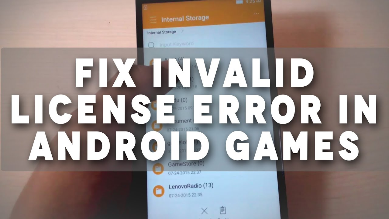 Fix License Android Games
