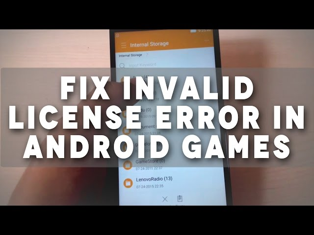 Tutorial: How to Fix Invalid License error in Android Games - YouTube