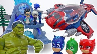A Shooting Match between PJ Masks and Romeo~! We Need The Spider Jet #ToyMartTV