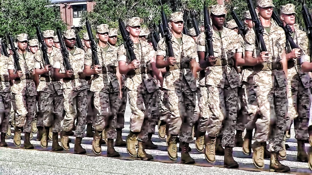 usmc boot camp final drill at parris island youtube