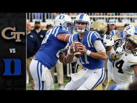 Georgia Tech vs. Duke Football Highlights (2017)