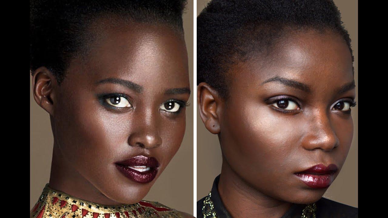 Lupita Nyong O Inspired Vogue 2015 Makeup Tutorial Youtube