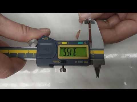 Проверка повторяемости штангенциркуля TERMA A150