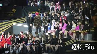 [FANCAM] 181214 2018 MAMA BTS Twice Got7 WJSN Momoland Oh My Girl React to Janet Jackson Cut