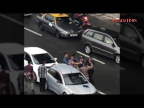 Highway brawl: Six men arrested over fight along LDP