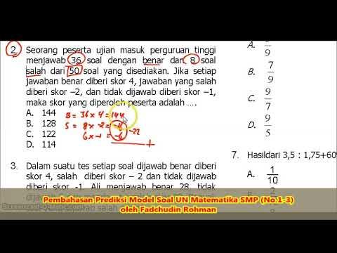 Soal Bilangan Bulat No 1 3 Pembahasan Soal Matematika Smp Mts Youtube