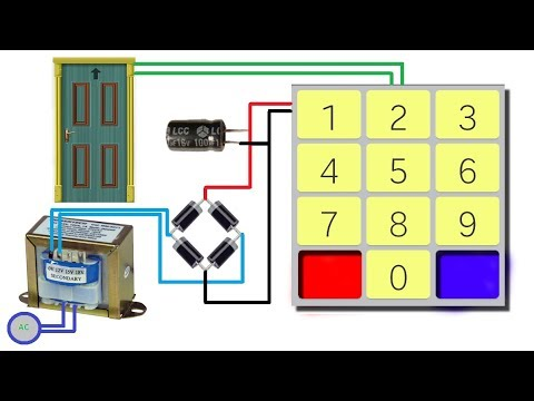 How To Make Digital Door Lock Without Arduino Youtube