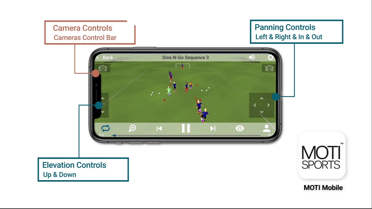 MOTI Sports- MOTI Mobile App 3D Drill Viewing Feature