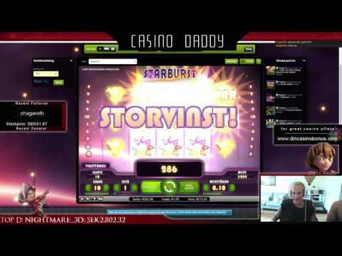 Starburst - super mega big win - 3 stars - Casino Streamer