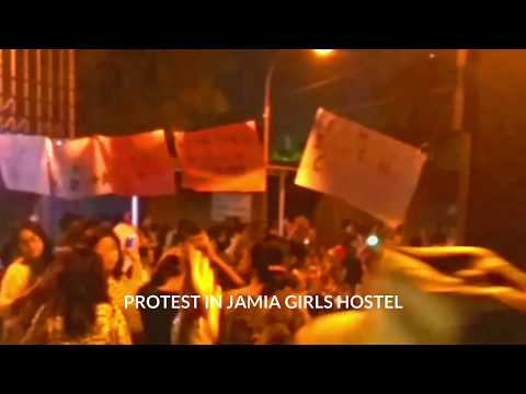 Protest in jamia girls hostel  p2p news 