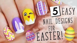 FIVE IN FIVE | Easy Easter Nail Art | Nailed It NZ