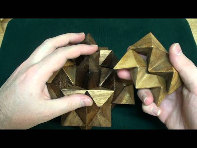Wooden Stars and Star Burst puzzles tutorial
