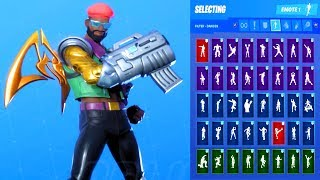 *NEW* Fortnite Major Lazer Skin Showcase with All Dances & Emotes Season 10 Outfit
