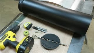 how to install a damper in a stove pipe