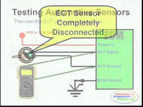 ECT Sensor & Wiring Diagram - YouTube on toyota camry transmission parts diagram, gm oxygen sensor diagram, auto parts wiring diagram, toyota 02 sensor pinout, mazda 6 oxygen sensor diagram, honda oxygen sensor diagram,