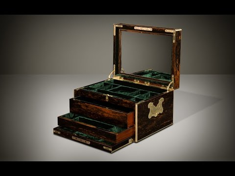 Daniellucian.com - Antique Coromandel Jewellery Box with Two Concealed Drawers, by Leuchars