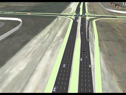 VISSIM Simulation - Traffic Operations with Multimodal skeletal arterial LRT pedestrian and cyclist