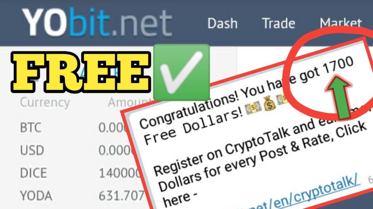 Free 1700 Dollars Dlrs From Yobit Net Parang Yoda Airdrop Lang To Youtube