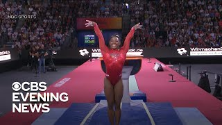 Simone Biles ties record for most world medals with 23rd victory