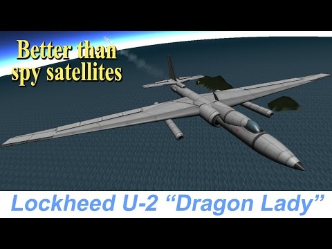 "KSP Lockheed U-2 ""Dragon Lady"", real plane, STOCK"