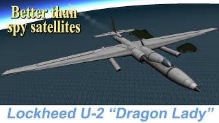 "KSP Lockheed U-2 ""Dragon Lady"", real plane, STOCK"